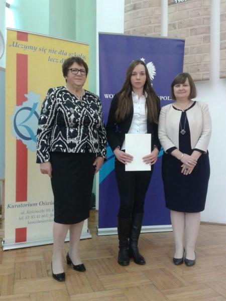Gratulacje dla Agnieszki